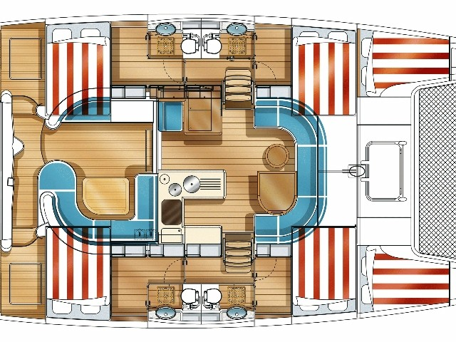 Noleggio charter catamarano con catamarano nautitech 442 for Catamarani di lusso